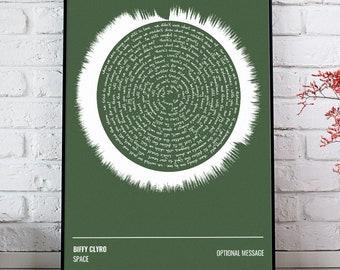 Biffy Clyro Poster Only Revolutions Album Lyrics Print Framed Original Art