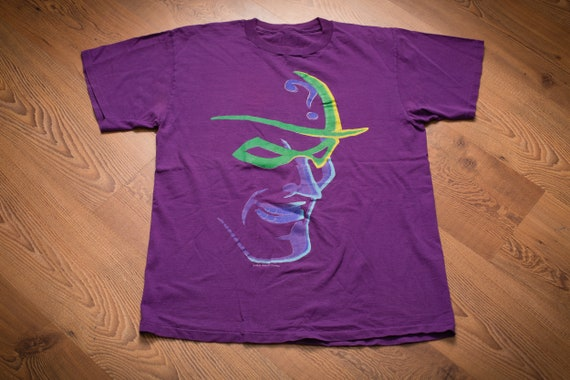 90s The Riddler Batman Villain T-Shirt, L, Vintage
