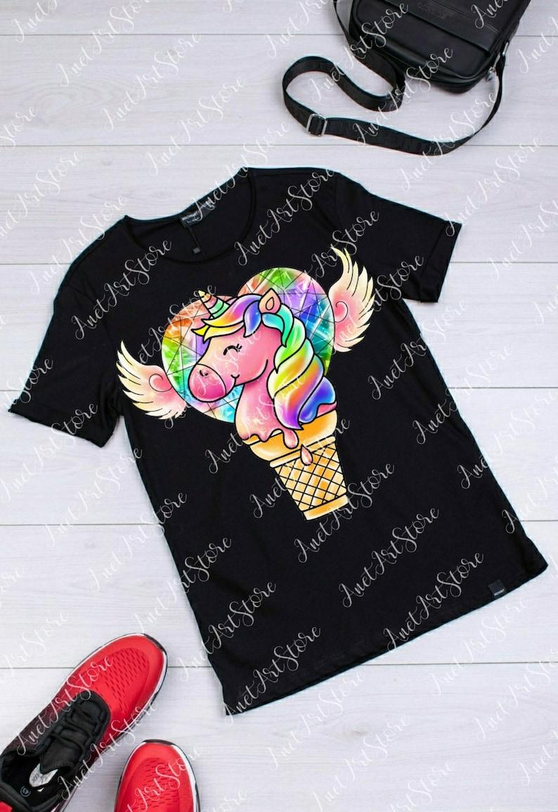 Instant Download file digital download Sublimation Design Rainbow Unicorn PNG clipart Rainbow png digital print