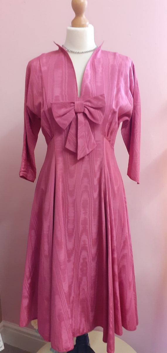 1950's Pink Taffeta Gown