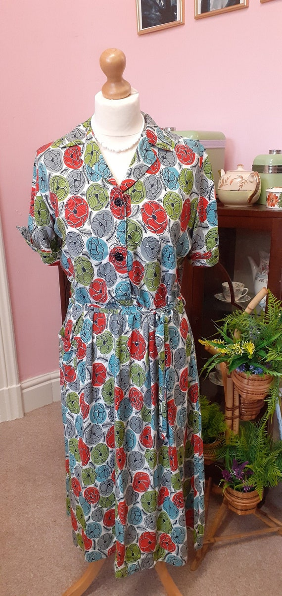 1950's deadstock day dress