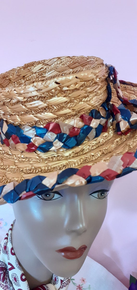 1940's Straw Tilt Hat - image 3