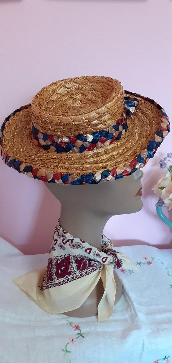 1940's Straw Tilt Hat - image 8
