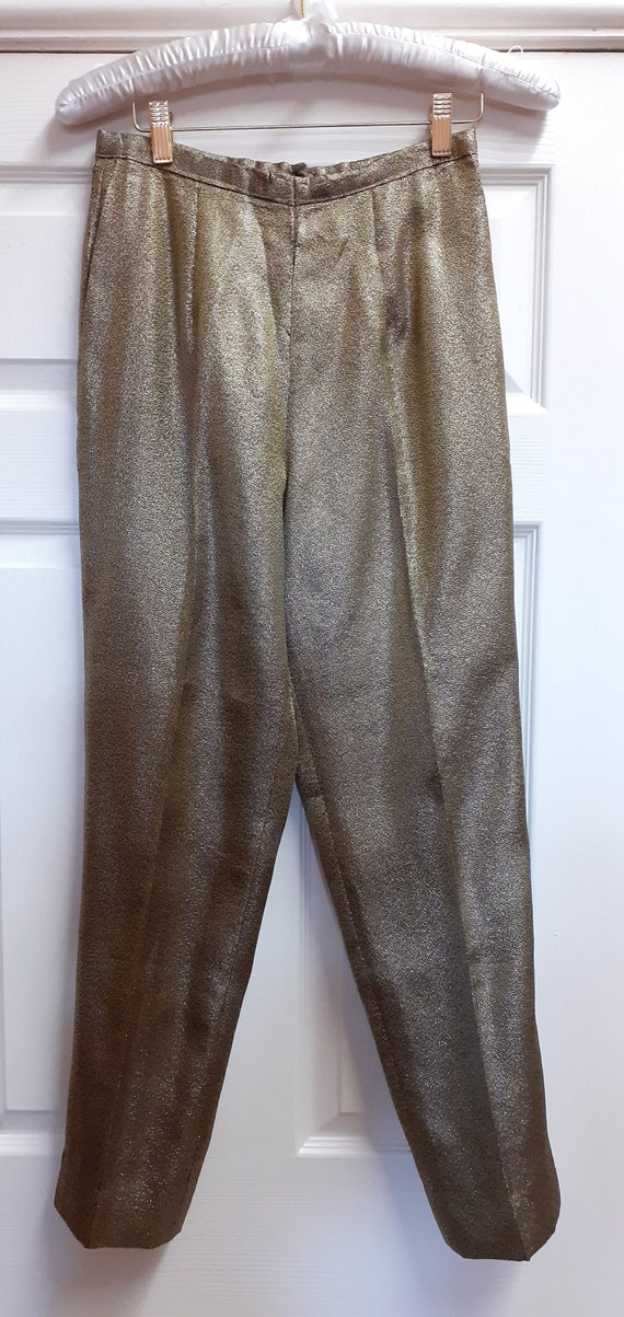 1950's Gold Lame' Capri Pants