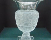 Lalique Versailles Clear Frosted signed Crystal Vase