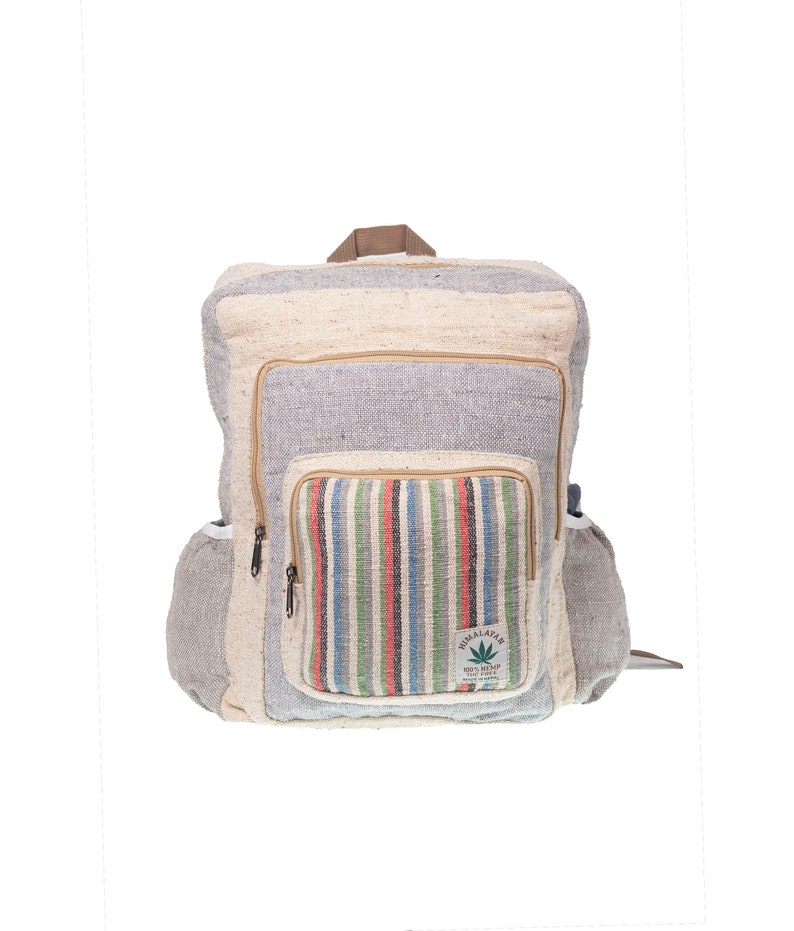 Multi compartment  RECTANGULAR clear cream color Hemp bag .carry as per your need fits in every occasion