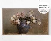 Frame Art TV, Samsung Frame Tv, Vintage Painting TV, Flower Still Life, Flower Vintage Print, Antique Still Life, Antique Painting