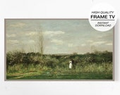 Frame Art TV, Samsung Frame Tv, Vintage Painting TV, Antique Painting Tv, Oil Painting TV, Meadow Painting, Digital Prints, Farmhouse Decor