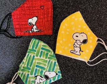 Unisex wiederverwendbare Nasengesichtsabdeckung Snoopy Peanuts Dog Yoga Lustige Namaste Half Face Dusts Baumwolle Winddicht Anti wiederverwendbar Komfortable atmungsaktive Sturmhaube f/ür Frauen M/änner