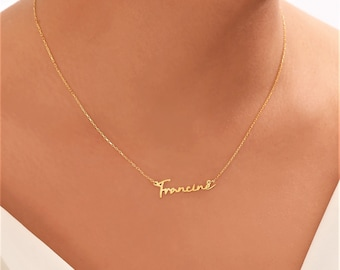 Name Script Necklace - Names in Hand Writing and Necklaces - Signature Name Necklace - Small Script Name Pendants - Custom Necklace Cursive