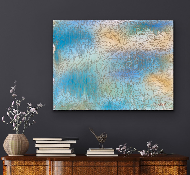 Borrowed from the Sea: Original Abstract Painting image 0