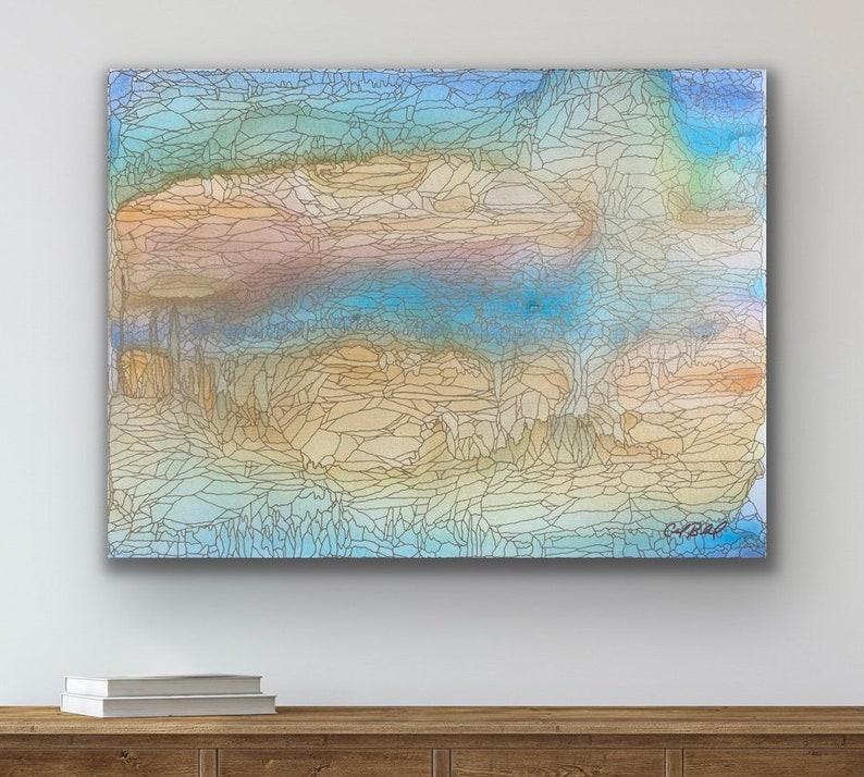 Summer Rains: Original Abstract Painting image 0