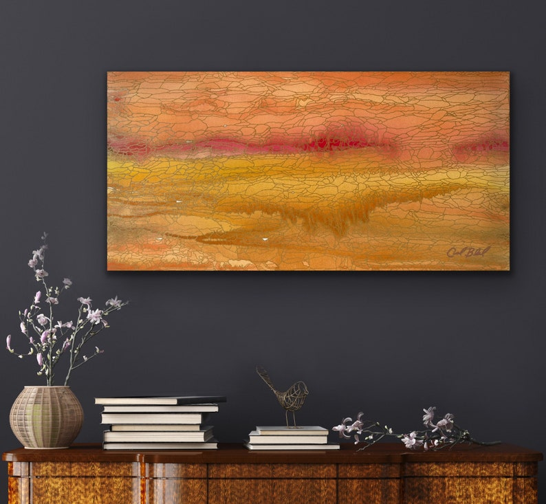 It Was the Desert's Breath: Original Abstract Painting image 0