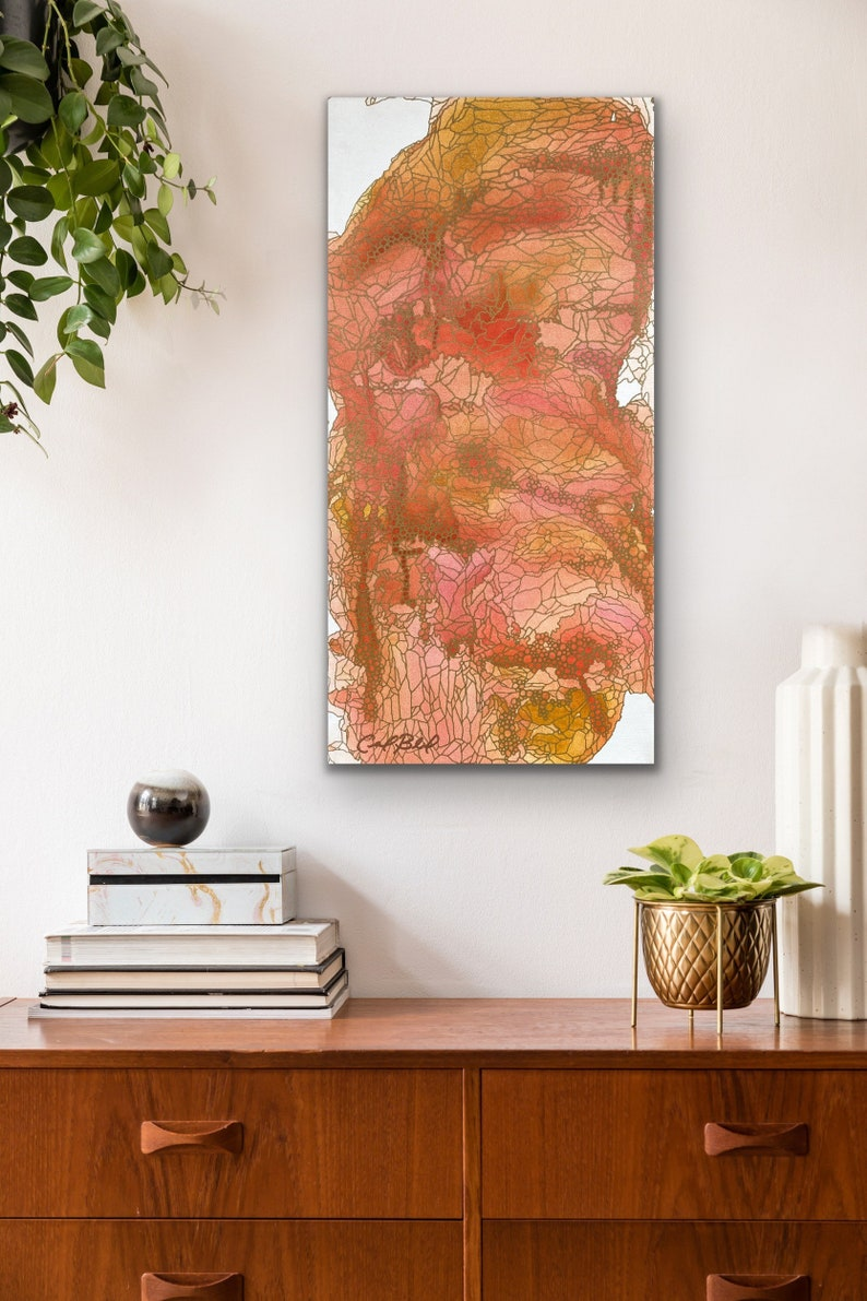 Like Roses and Honey: Original Abstract Painting image 0