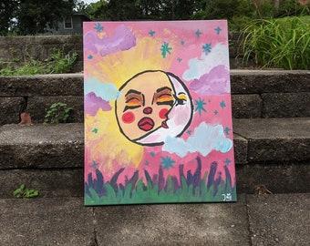 Aesthetic Sun and Moon