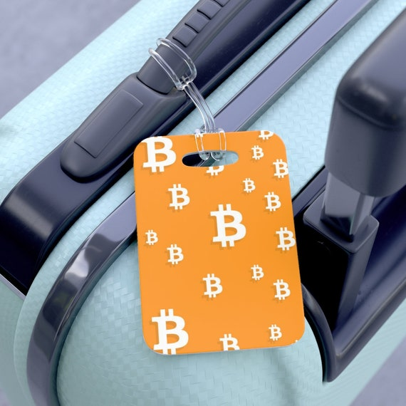Bitcoin Bag Tag - FREE SHIPPING, Luggage Tag, Custom Bag Tags, Sports Gift, Golf Gift, Gift for Boy, Gift for Girl, Monogram Luggage Tag