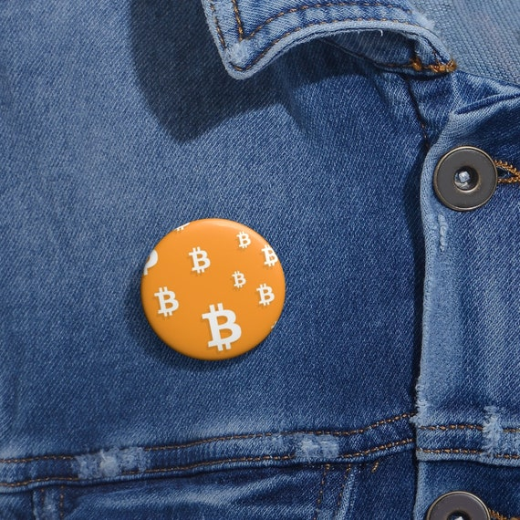 Bitcoin Pin, Custom Design, Pixel Art