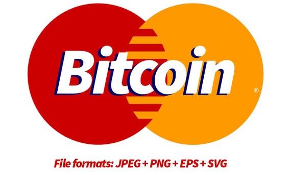 bitcoin svg Mastercard, bitcoin cricut, crypto svg, jpg, png, ai cutting files, clip art, printable, Silhouette Cameo