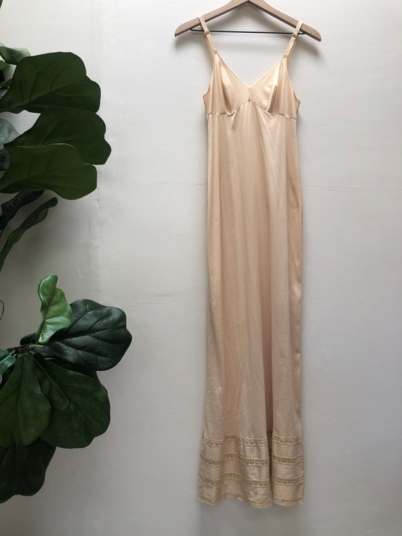 Cream Slip Maxi Dress