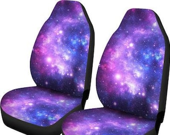 Forchrinse Blue Galaxy Nebula Starry Space Car Seat Belt Cover,2 PCs Shoulder Strap Pads Cover,Safety Belt Strap Shoulder Pad for Adults and Children