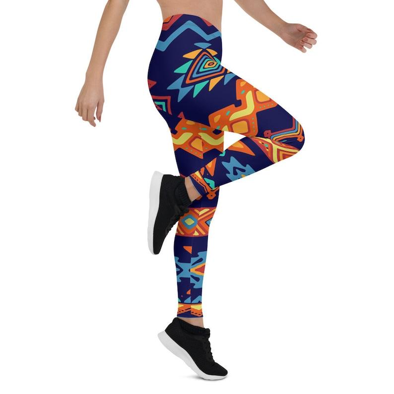 Africa Leggings  African print Leggings  African pattern Leggings  Colorful leggings  Small Plus size  XL Leggings
