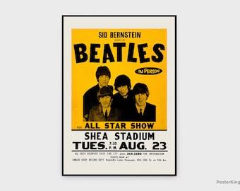 The Beatles Shea Stadium New York 1965 Concert Original Vintage Poster, INSTANT DOWNLOAD, Singer Band Concert Music Poster - Poster #0111