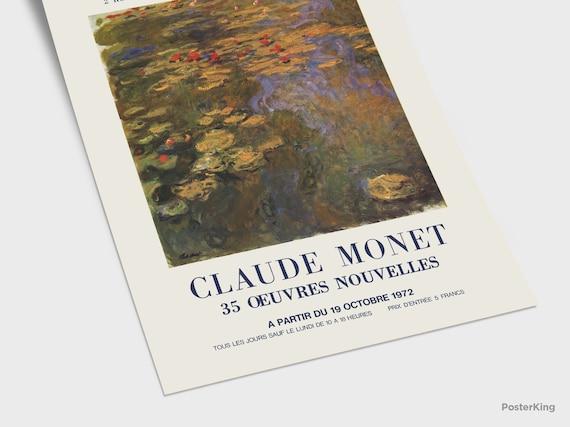 Beautiful! Vintage MONET Fine Art GREETING CARD The Agapanthes Marmottan Museum Paris Mint Condition