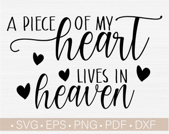 Transparent PNG SVG Silhouette Half Of My Heart Is In Heaven Cricut Scan N Cut