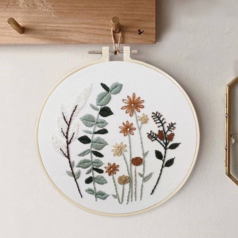 Embroidery Kit For Beginner floral  Beginner Embroidery Kit Pattern 2