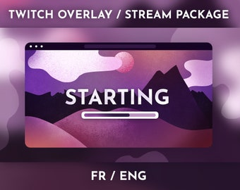 Landscape Theme Illustrated - Stream Package / Twitch Overlay