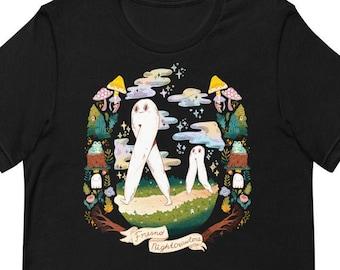 Fresno Nightcrawler - Cryptid Portraits - Short-Sleeve Unisex T-Shirt - Size inclusive cryptozoology t-shirt