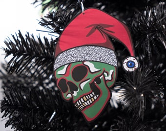 Skull Holiday Ornaments Set of Six