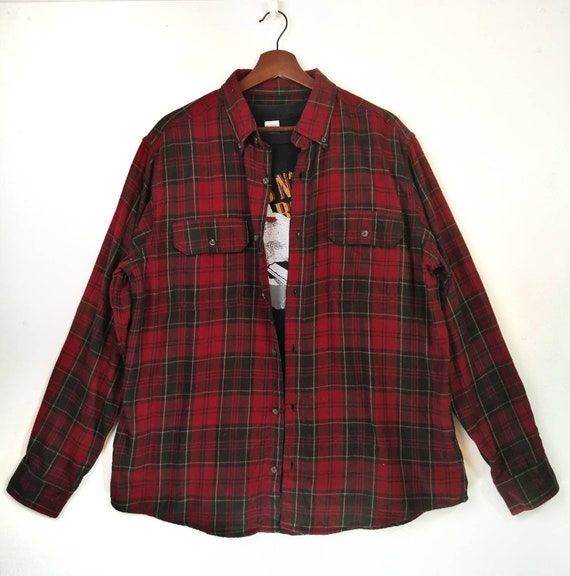 Faded Glory Cheecked Flannel Rare Item