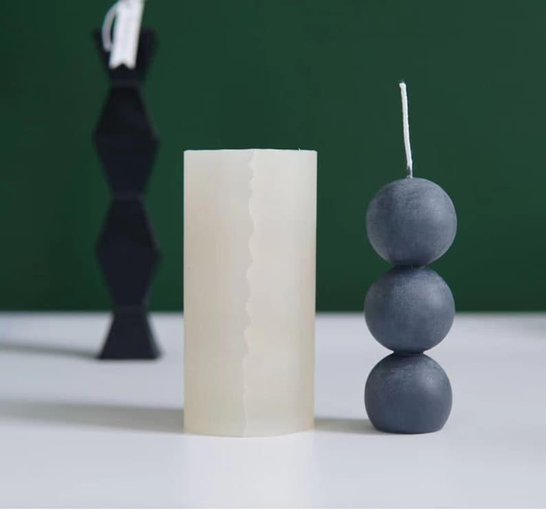 Round Ball Candle Mold,Soap Mold Baking Tool,One-Piece Ball Shape Mold,Silicone Candle Mold,Ball Handmade soap mold,3D Knot Magic Ball Mold
