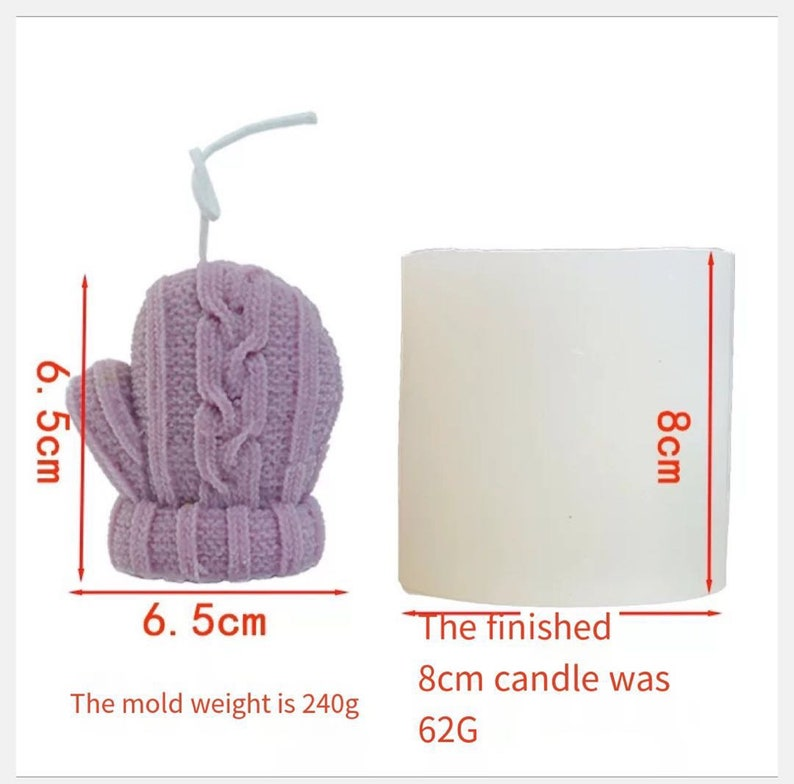 Christmas Candle Mold,Gloves Candle Mold,Soap Mold Silicone,Candle Mold for Soy Wax,DIY Handmede Gloves Holder Mold,Christmas Party Decor
