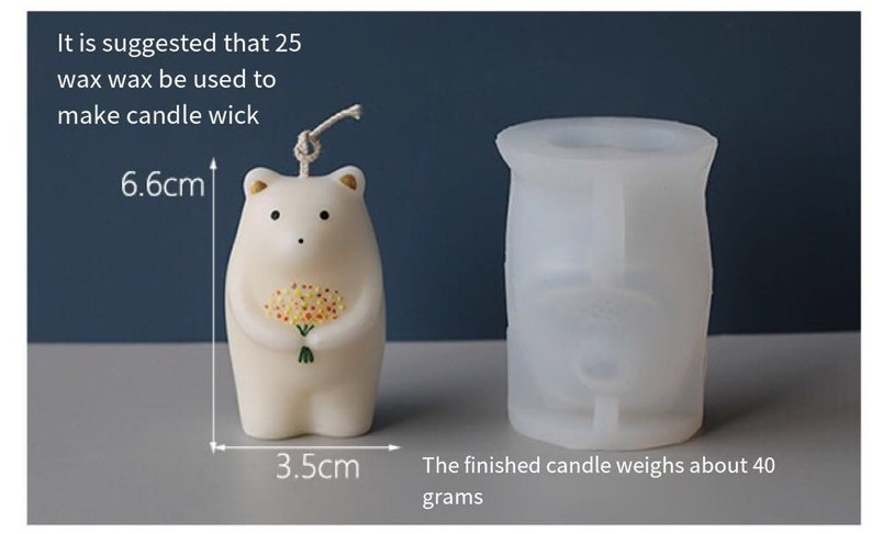 Candle Molds For Soy Wax,Cartoon Candle Mold,Cartoon Silicone Mold,Geometric Bear Resin Mold,Casting Mold for Resin Art Home Decor