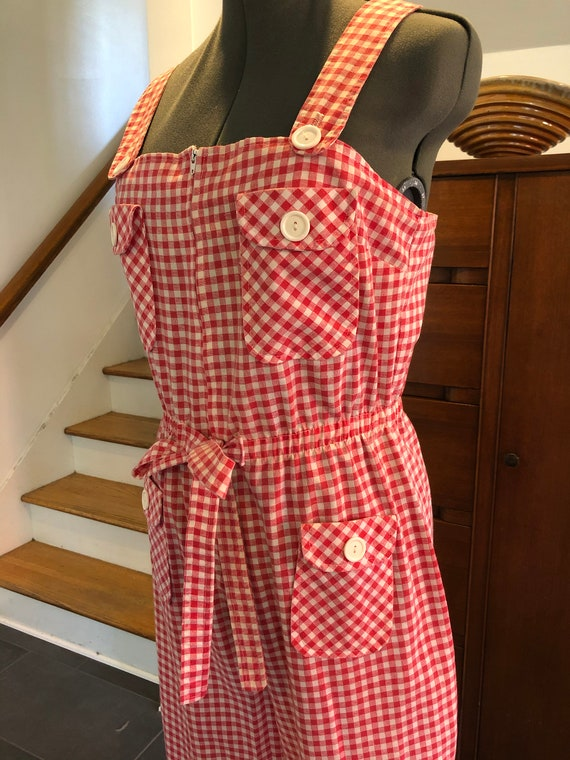 1970's Gingham Jumpsuit