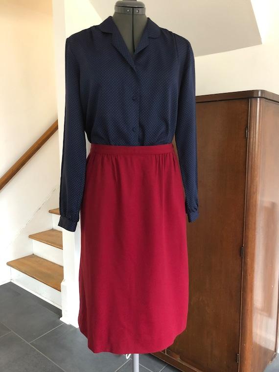 Red Wool Vintage Pendleton Skirt