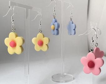 Clay Flower Petal Earrings - Cute Aesthetic Spring Flower Earrings