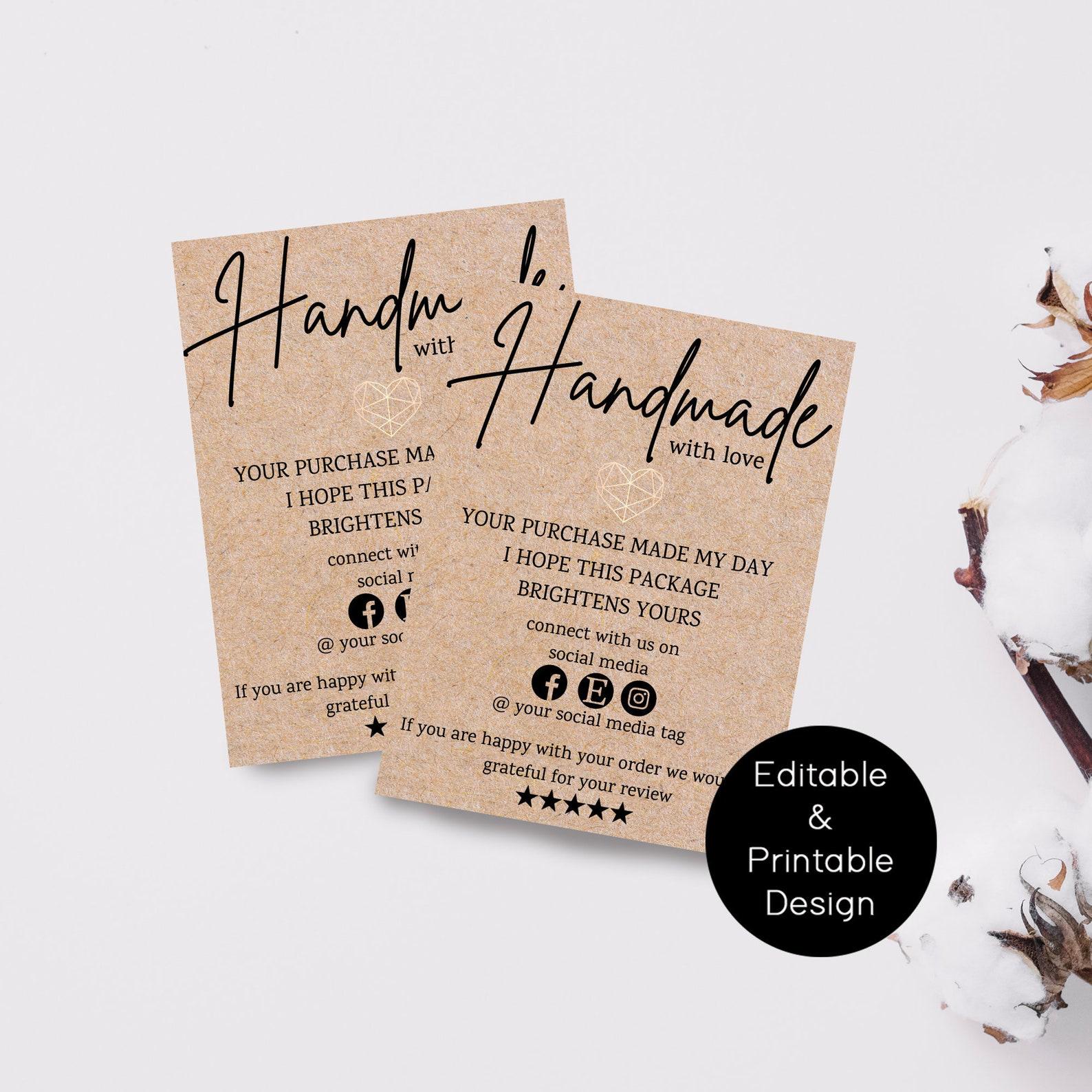 Handmade Printable Business Cards