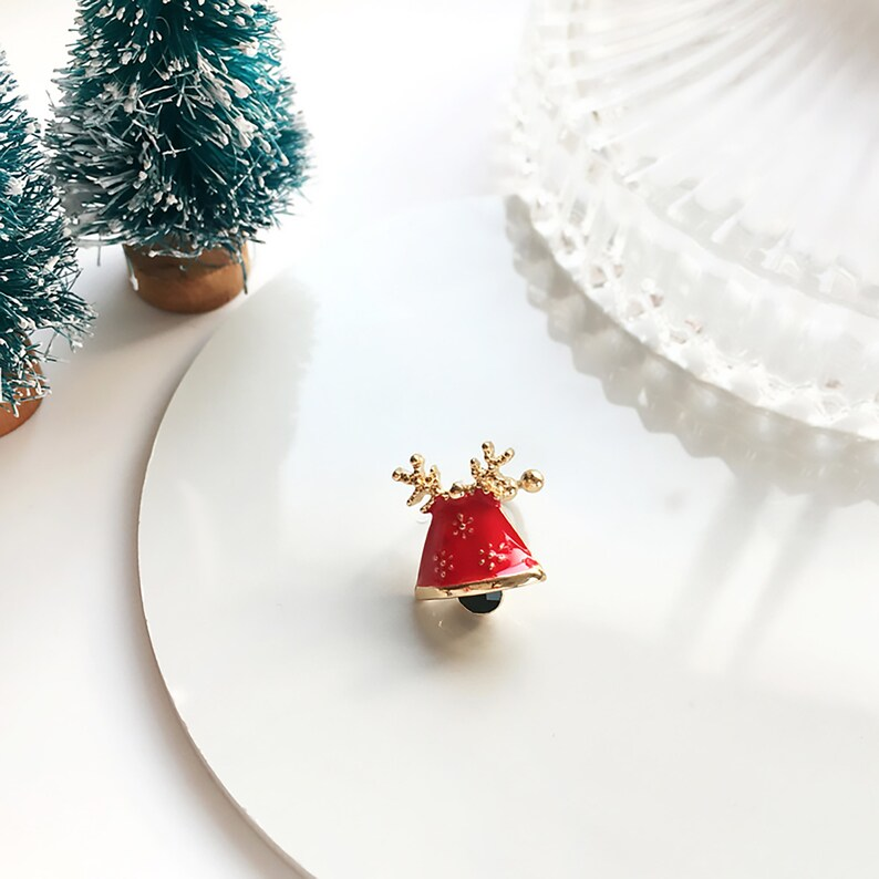 Christmas bell stud earrings Christmas reindeer earrings Christmas earrings Santa Claus earrings Christmas cane stud earrings