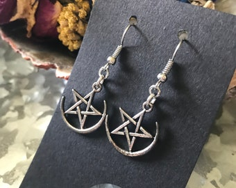 Night Sky Earrings Witchcraft Supplies Druid Goddess Earrings Pagan Universe Witch