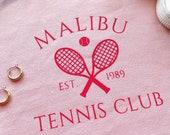 Malibu Tennis Club Trendy Crewneck Sweatshirt Gildan Brand