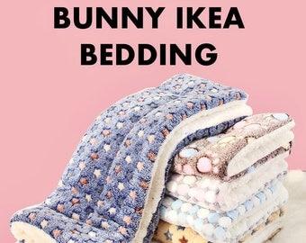 New! Bunny IKEA Bedding, Soft Fluffy Double side Mat, Small Pet Rabbit, Cats Dog mattress, Chinchilla