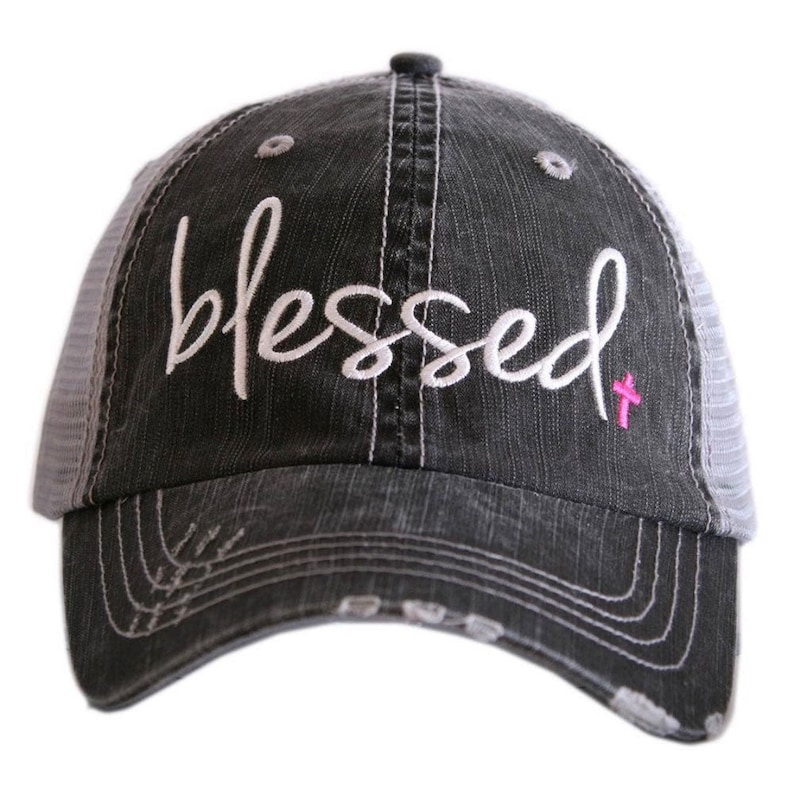 Pink Blessed Women Baseball and Trucker Caps