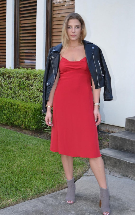 Vintage Armani Red Slip Dress