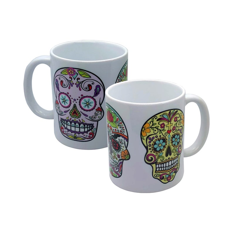 Sugar Skulls Double Sided Print Mug 11oz image 0