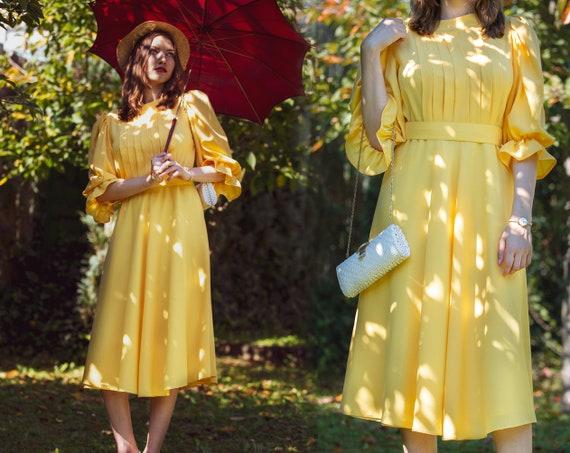 Vintage Swing Dress Yellow