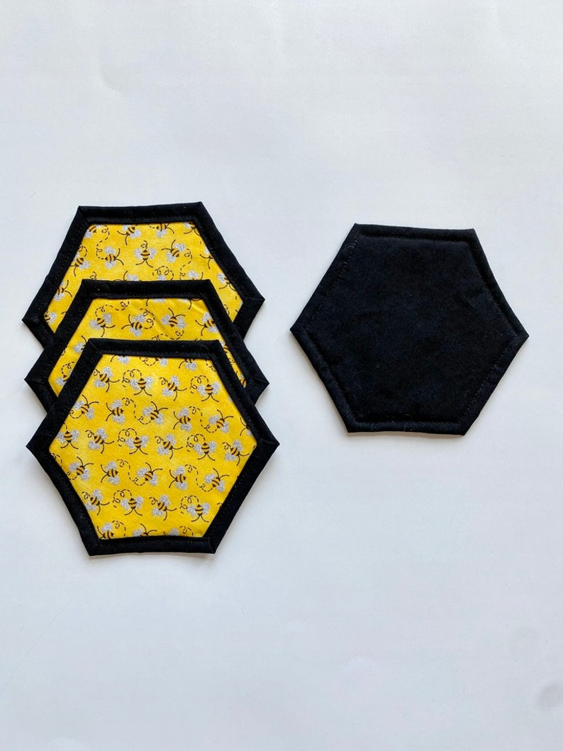 Bee decorcoastersquiltedmug rugspringyellow coasters
