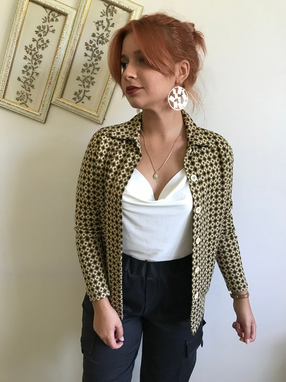 Checkered Vintage Women's Shirt 70's